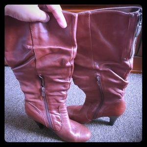 Guess Cognac Slouch Boots